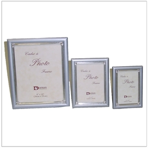 Picture of Frame Pearl Blue with Silver Border