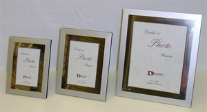 Picture of Frame Wide Border Silver and Pearl Ivory Design
