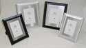 Picture of Frame, Wood with Silver Metal Mat